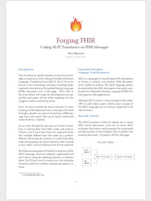 Forging FHIR article