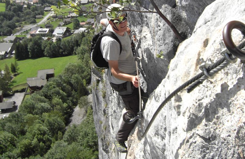 Via Ferrata, des Saix de Miolène, France